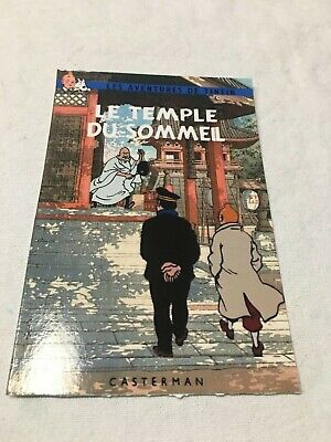 Carte Postale Tintin   Hommage A Herge Pastiche Temple Du Sommeil