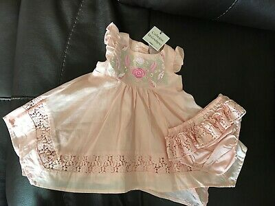 4d0edb7e6ac8 new catherine malandrino baby girl dress size 3-6 months embroidered  boutique