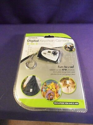 Digital Keychain Camera Shoot Photos Video Clips, Use As A PC Web Cam New BLUE