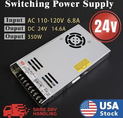 LRS-350-24 Mean Well Power Supply 24V 14.6A 350W