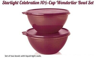 Tupperware Wonderlier Bowl Set, Starlight Celebration Sparkle & Shine 10.5 cups