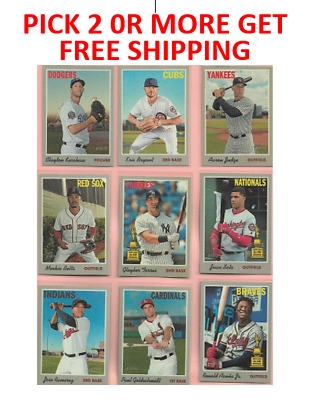 2019 Topps Heritage '70 Topps Cloth Stickers pick 2 or more get free Shipping