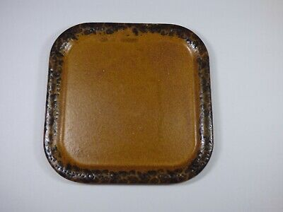 """SET OF 4 - McCoy STONEWARE CANYON MESA 9-5/8"""" SQUARE DINNER PLATES - EXCELLENT!"""