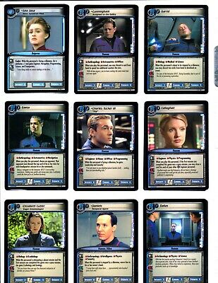 Star Trek 2E To Boldly Go Trading Cards With Rares Lot Of 86 2005 Ccg