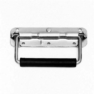 Flightcase Steel Spring Loaded Handle with Rubber Grip