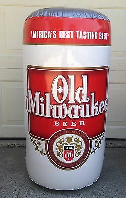 Old Milwaukee/OM Light Beer Large Blow Up Inflatables Beer Cans NOS ALMOST GONE!