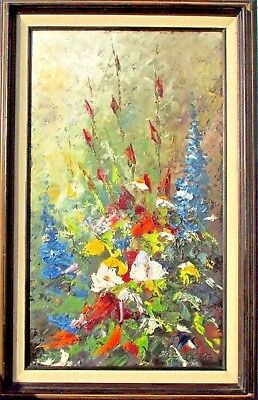 Well Listed Canadian Artist Ottawa Abstract Oil Painting Fernand Labelle