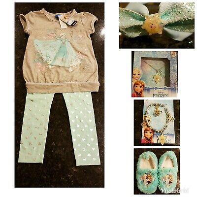 BNWT Frozen Musical Pyjamas, slippers, hairband, jewellery Bundle Age 4-5 Years