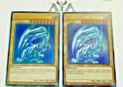 1X Blue-Eyes White Dragon - LIMITED NM ULTRA -CT13-EN008 FOREIGN & DUSA-EN043