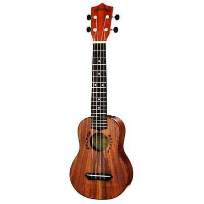Ukulele Soprano Leolani Solid Koa Series Long Neck with Gigbag