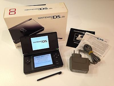 Nintendo DS Lite Launch Edition Onyx Black Handheld System CIB Complete in box