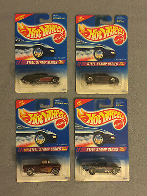 Complete Set of STEEL STAMP Series - 1994 Hot Wheels cars - Mint on Card