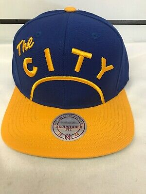 brand new aef53 45b30 Mitchell   Ness Golden State Warriors Snapback Hat City Logo NBA Cap