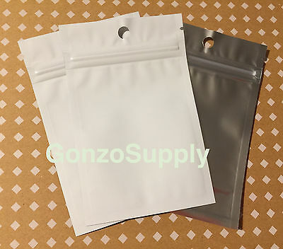 "3x5"" 500PC White Clear ZipLock Mylar Bags-Business Storage Crafts Food Survival"