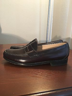 4e314c226f3 SAS Burgundy Leather Men s Slip On Penny Loafers Dress Shoes 10.5 S Cordovan