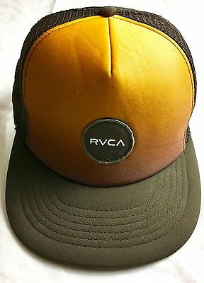 new styles 809a8 76e91 RVCA Brown   Copper Mesh Trucker Hat Snapback Cap