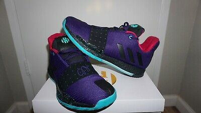 c4589e9eb928 Adidas Harden Vol 3 College Purple Black Aqua Men s Basketball Shoes Size  10.5