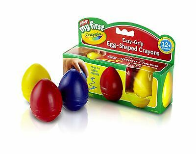 Crayola 3 My First Palm-Grip Easy-Grip Egg-Shaped Crayons