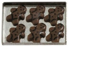 Dollhouse Miniatures 1:12 Scale Gingerbread Man Cookies on a sheet #IM65280