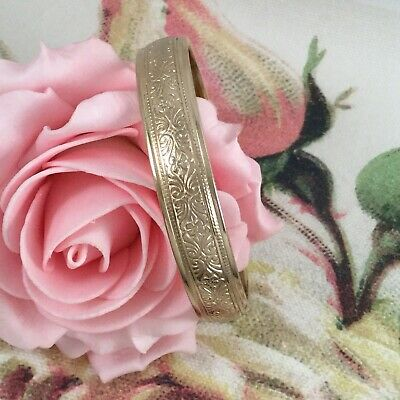 Vintage Jewellery Gold Bangle Retro Rockabilly Pinup Mod Glam Dress Jewelry