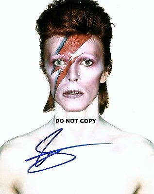 David Bowie 8X10 Authentic In Person Signed Autograph Reprint Photo Rp
