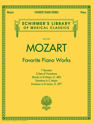 Mozart, Favorite Piano Works, Shirmer's Library of Musical Classics 431898