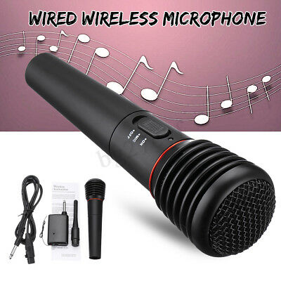 Pro 2in1 Wireless Handheld Microphone Mic Dynamic Cordless Singing For