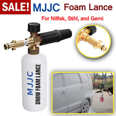 MJJC Snow Foam Gun Lance Soap 1L Bottle For Nilfisk Stihl Car Pressure Washer