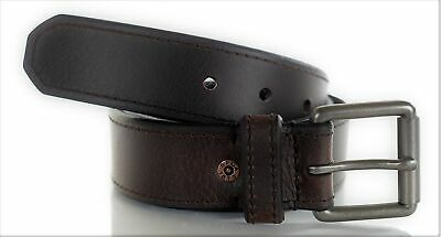 Levi's Men's 38MM Leather Belt with Roller Buckle Brown