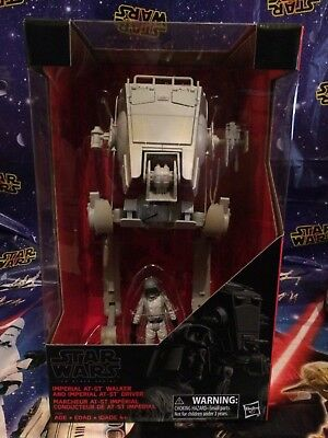 Star Wars Black Series Imperial AT-ST Walker and Imperial Driver Action NEW!