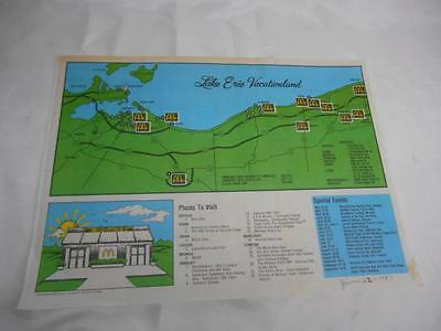 Old Vtg 1980's McDonald's Lake Erie Vacationland Ohio Restaurant PLACEMAT