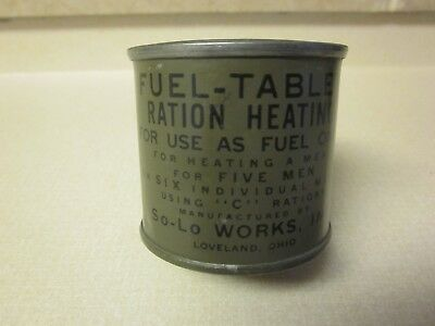 "Ww2 U. S. Army Fuel- Tablet Ration Heating  Unused, Unopen  ""Mint"" Condition"