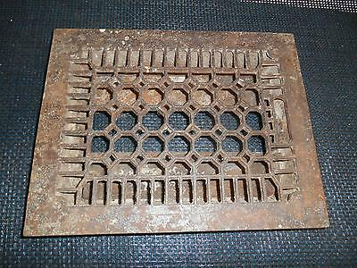 Antique Cast Iron Floor Grate Heat Register Vent  Architectural  Restoration