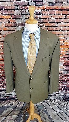 Brooks Brothers 1818 43R Mens Beige 2 Button HOUNDSTOOTH Wool Sport Coat Jacket