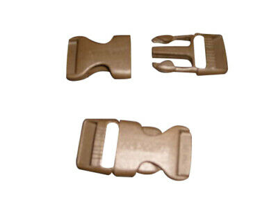 """Buckle 1"""" Side release buckle,nylon buckle Khaki color best quality Made in USA."""