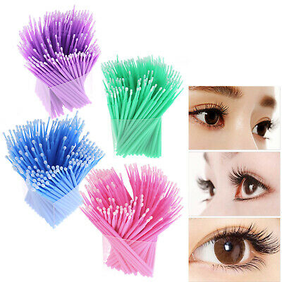 200x Applicators Eyelash Swab Micro Brush Disposable Makeup Microbrush 3 Size