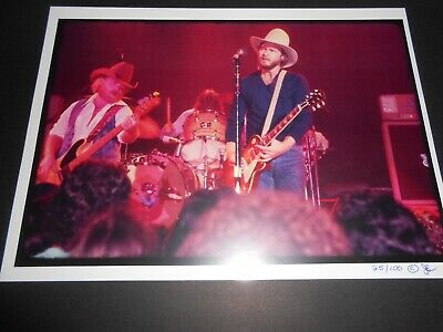 1976 era ZZ TOP Photo Print Limited Edition numberd print Billy Gibbons