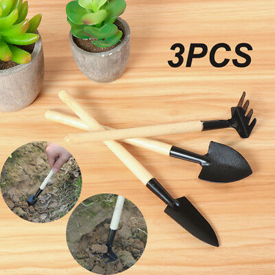Spade & Shovel Garden Hand Tools Aggressive High Quality 3pcs Mini Shovel Rake Garden Plant Tool Set Children Small Harrow Spade Shovel Gardening Tools Planting Tool Customers First