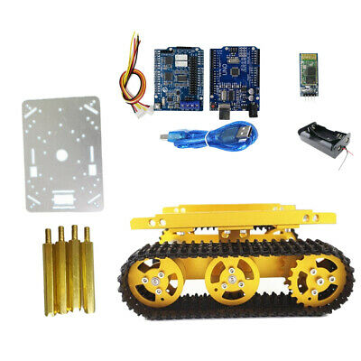 Bluetooth Driver Kit Robot RC Car Tracked Tank Chassis Car Parts 9V motor