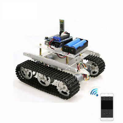 Silver Bluetooth Driver Kit Robot RC Car Tracked Tank Chassis Car 9V motor