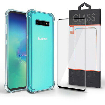 Galaxy S10 S10+ S10e PLUS Screen Protector Glass 2.5D Curved +Crystal Clear Case