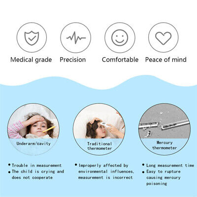 Temperature Oral Digital LCD Ear Thermometer Baby Adult Thermometer Infrared