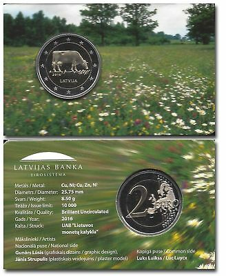 Latvia 2015 Coin 2 EURO Dairy special packing, Lettland münze
