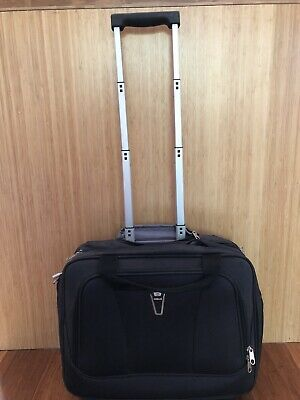 Black Hand Luggage Flight Bag On Wheels Used For One Trip Great Confition