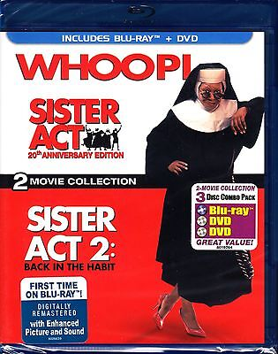 Sister Act 1 And 2 Back In The Habit Blu Ray 2Oth Anniversary Whoopi Goldberg