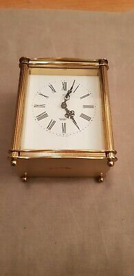 Smiths Louis Sectronic Battery Quartz Brass Mantle Clock Working.