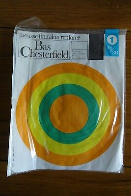 Vintage Chesterfield 20 Denier Stockings Size 1 Grey*