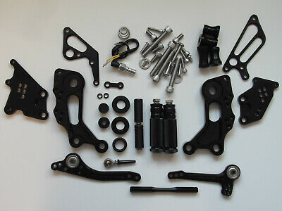 Ducati Monster 696 08-14 Fußrastenanlage rear set schwarz