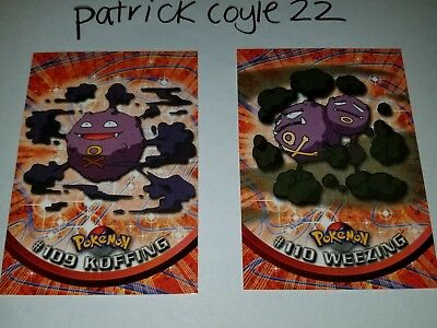 Koffing and Weezing Pokemon Topps Cards (Series 2) NM