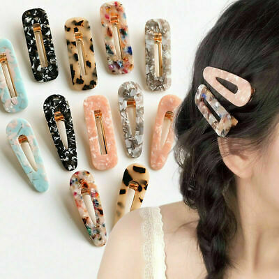 2019 Vintage Leopard Women Resin Hair Pin Hairband Snap Barrette Girl Hair Clips